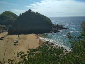 Playa del Amor nudist beach, Zipolite